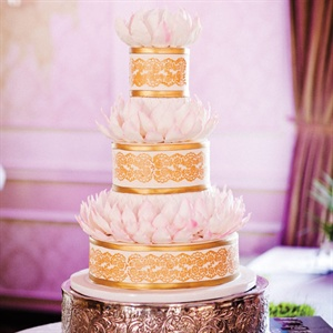 Lotus-adorned Cake