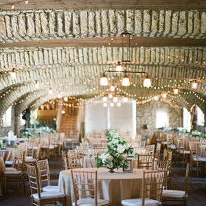 "Stella and Tim fell in love with Mayowood's rustic stone ceilings. They say, ""It resembled the interior 