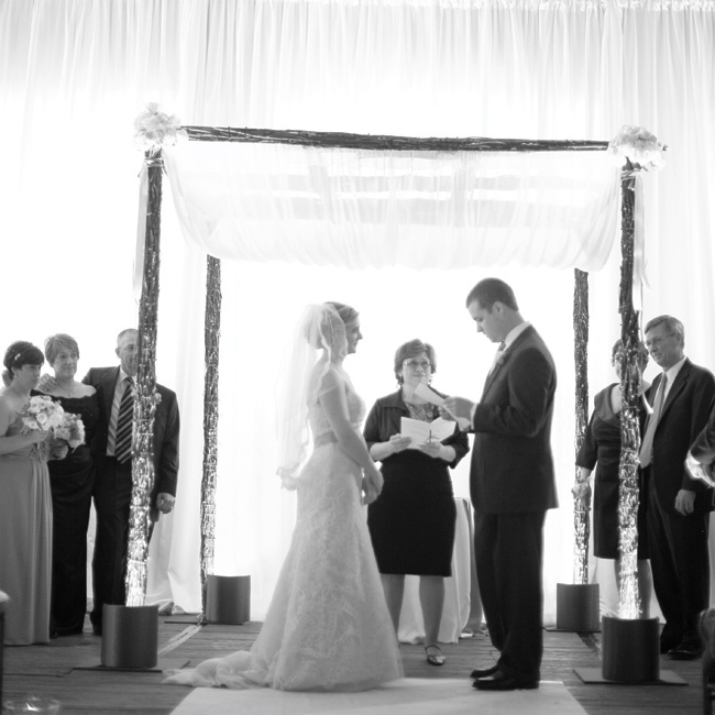 Ceremony and reception site: Gallery 1028, Chicago Photography: Clary and Travis Pfeiffer/Clary Photo Videography: I Do Films Day-of coordinator: Samantha Hamilton Gown: Christos, Belle Vie Bridal Couture, Chicago Hair and makeup: Beauty on Call Veil: Weddings 826, Chicago Shoes: Kate Spade New York Wedding rings: Cy Fredrics Jewelers Brid ...