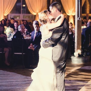 "The couple danced to ""That's How Strong My Love Is"" by Otis Redding."