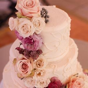 Flower-adorned Cake