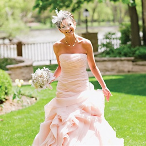 Blush-Pink Wedding Gown