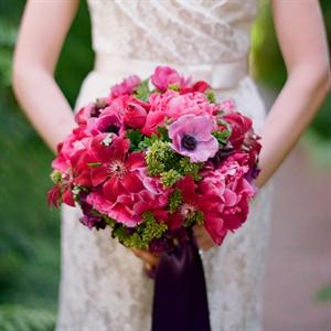 Fuchsia Anenome Bouquet