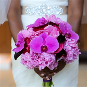 Fuchsia Wedding Bouquet