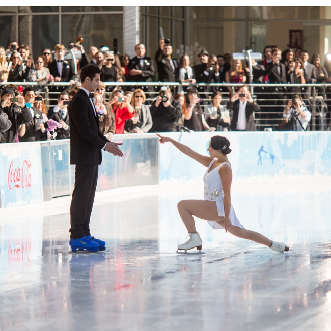"Sierra used to skate professionally, so post-ceremony she did a surprise performance for Andre to the song ""I Can't Help Falling in Love With You"" by Ingrid Michaelson."