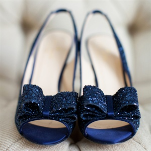Sparkly Blue Shoes