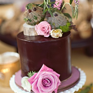 Small Chocolate Wedding Cake