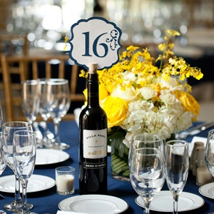 Navy and Yellow Reception Table
