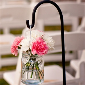 Pink and White Ceremony Decor