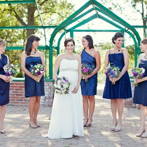 Navy Blue Bridesmaid Dress on Navy Wedding Bridesmaid Looks