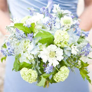 Blue Bridemaid Bouquets