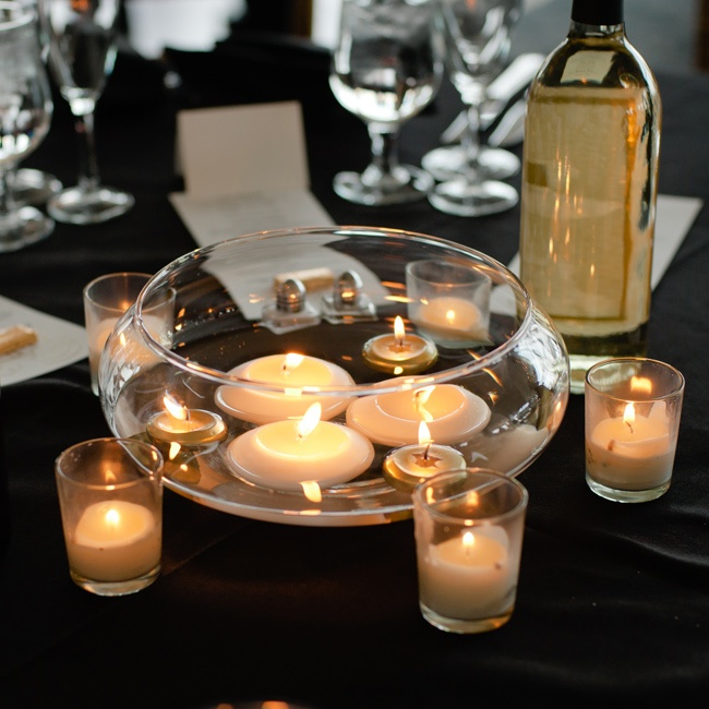 Floating Candles Centerpieces For Parties: Floating Candle Centerpieces