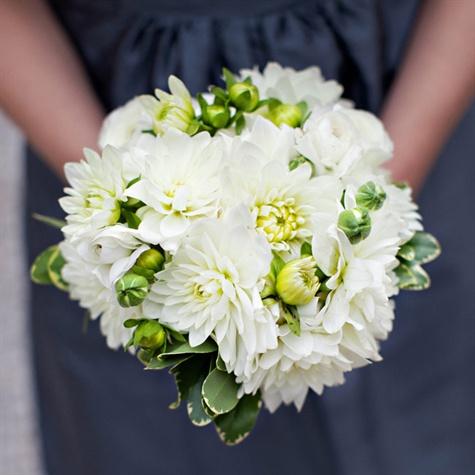 White Dahlia Bouquet