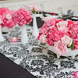 Short Pink & Blush Centerpieces
