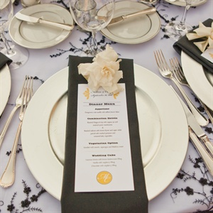 Black and White Menu Card