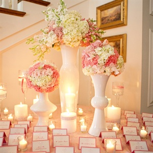 Pink Escort Cards