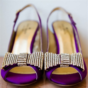 Purple Peep-Toe Shoes