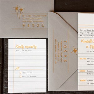 Notebook Style Invitations