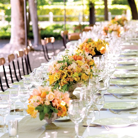 Family Style Reception Table