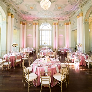 Elegant Pink Reception Decor