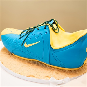 Running Shoe Groom's Cake