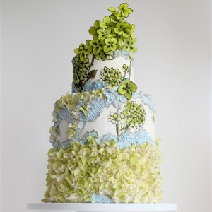 Painted Hydrangea Cake