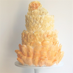 Peach Petals Cake