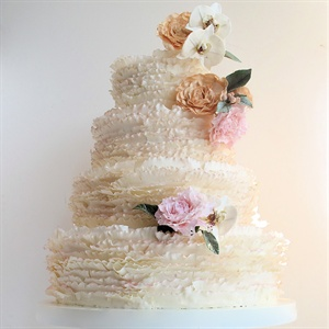 Frilly Ivory Cake
