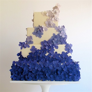 Ombre Purple Blossoms Cake