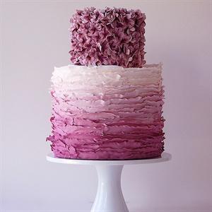Plum Ombre Cake
