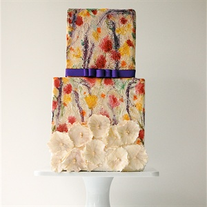 Bright Watercolor Cake