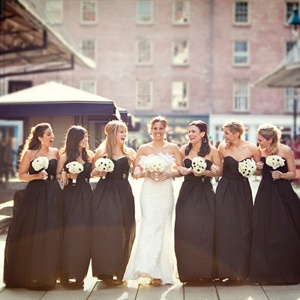 Black-and-White Bridal Attire