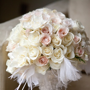 Light Pink and Cream Rose Bouquet