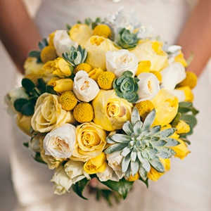Yellow and Green Bridal Bouquet