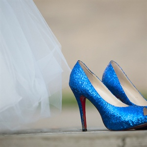 Blue Glitter Christian Louboutin Shoes