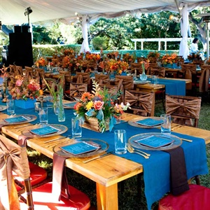 Colorful Reception Tables