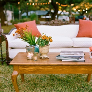 outdoor/garden wedding reception decor