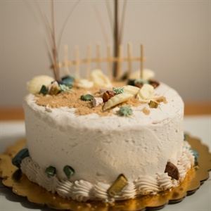Simple Beach Style Cake