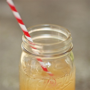 Signature Cocktail in Mason Jar