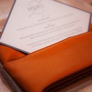 Copper Napkin and Menu Card