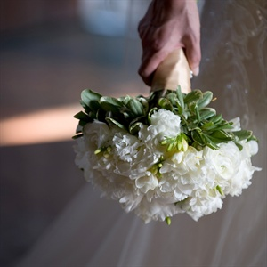 Hand-Tied White Bridal Bouquet