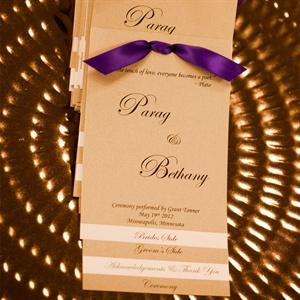 Purple and Gold Wedding Programs