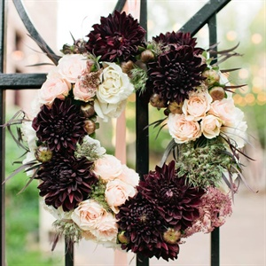 Rose and Dahlia Floral Wreath