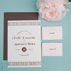 Brown and Pink Invitation