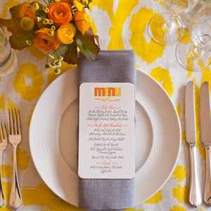 Yellow Ikat Tablecloth