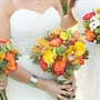 Fall-Colored Bridal Bouquet