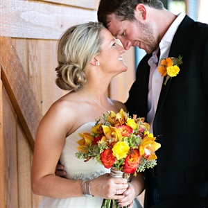 Orange and Yellow Boutonniere