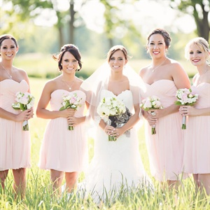 Short Blush Bridesmaid Dresses