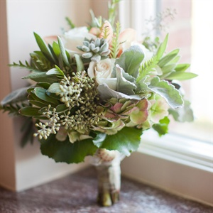 Pale Green Bridal Bouquet