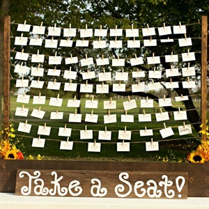 Hanging Escort Cards